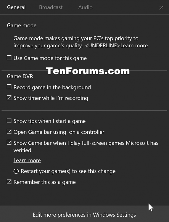 Beam Streaming & Increased Performance Coming to Xbox One & Windows 10-w10_game_mode.png