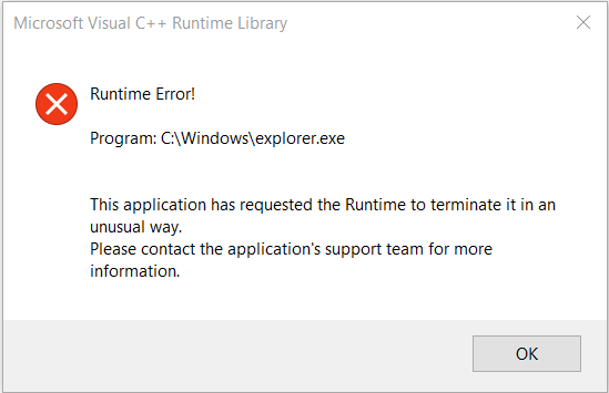 Click image for larger version.  Name:runtime error.PNG Views:71 Size:10.3 KB ID:119756