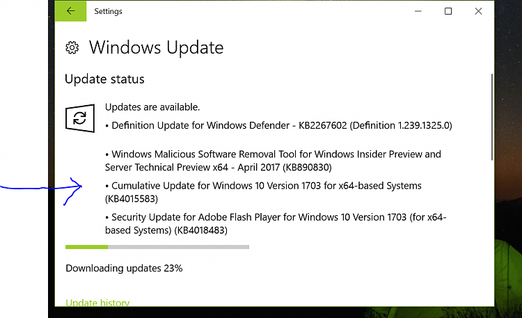 windows 10 1703 download size