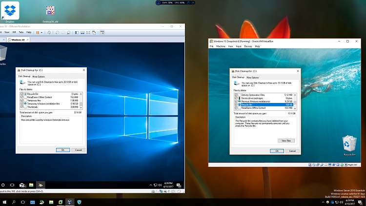 Click image for larger version.  Name:Disk Cleanup for 2 VMs.PNG Views:11 Size:1.29 MB ID:130356