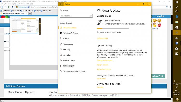 Announcing Windows 10 Insider Preview Build 16179 PC + 15205 Mobile