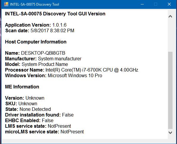 5 8 17 Intel SA-00075 DiscoveryTool Results.PNG