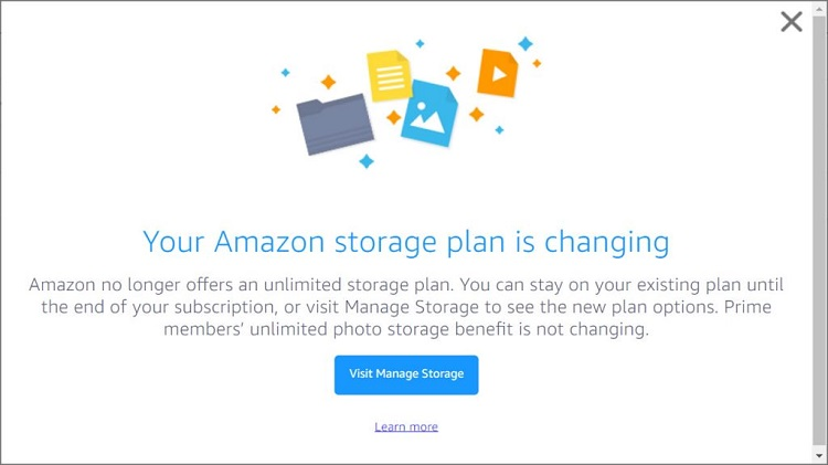 Amazon Drops Unlimited Cloud Storage for Individuals - Windows 10 Forums