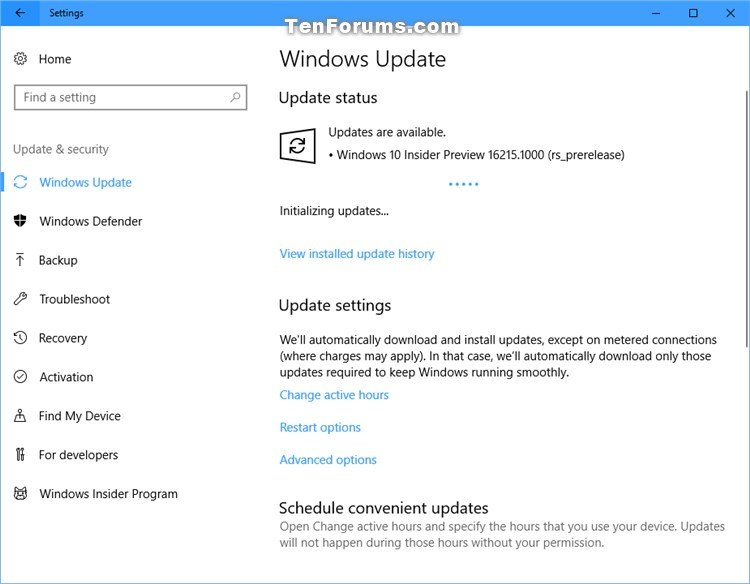Announcing Windows 10 Insider Preview Build 16215 PC + 15222