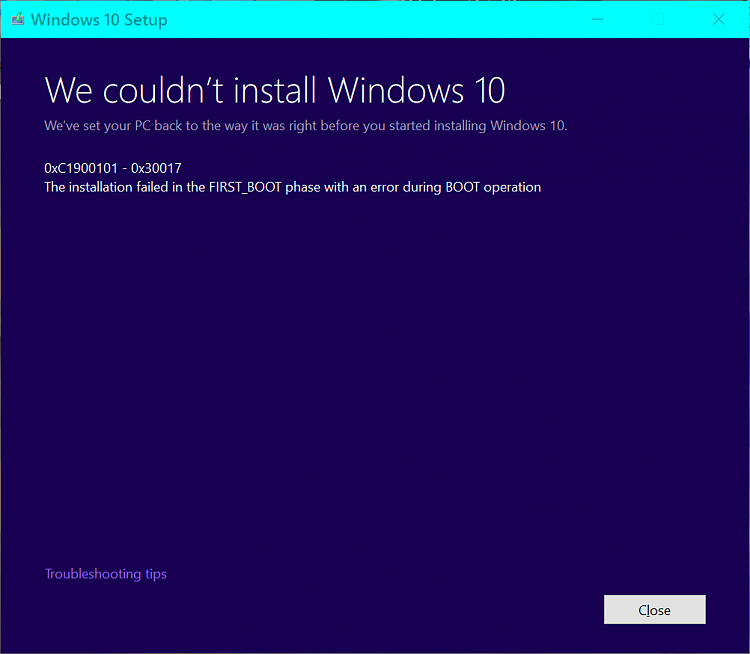 Click image for larger version.  Name:Boot Error with 16215.png Views:6 Size:25.6 KB ID:138592