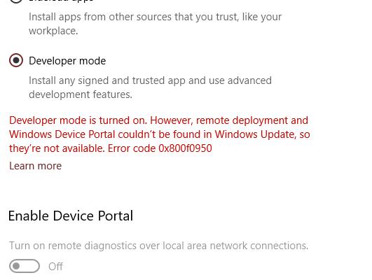 Click image for larger version.  Name:Developer Mode.PNG Views:63 Size:18.0 KB ID:138816