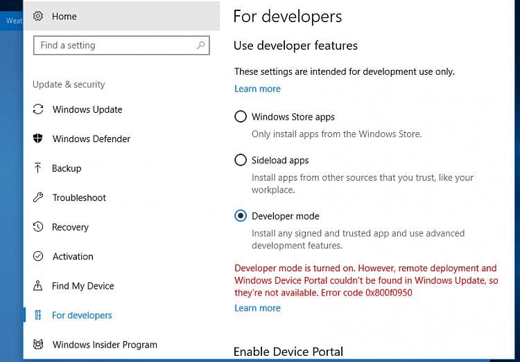 Click image for larger version.  Name:Developer Mode Error.PNG Views:2 Size:54.3 KB ID:139869