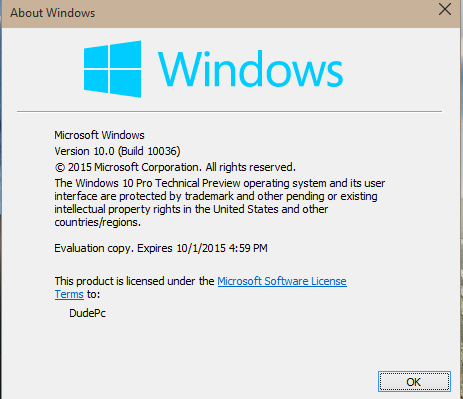 Click image for larger version.  Name:14364d1426348916-windows-10-build-10036-has-leaked-build.png Views:240 Size:20.1 KB ID:14426