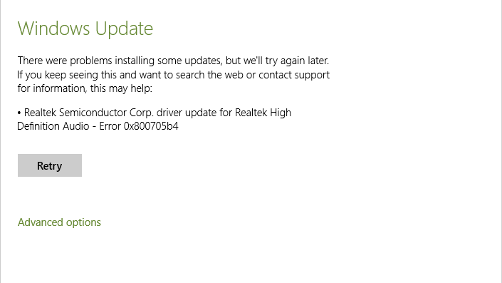 Click image for larger version.  Name:RealTek Update Error.PNG Views:79 Size:13.8 KB ID:14992