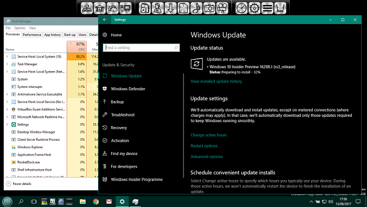 Announcing Windows 10 Insider Build Slow 16288 PC + Fast 15250 Mobile-virtualbox_win-10-x86-ip_13_09_2017_17_58_42.png