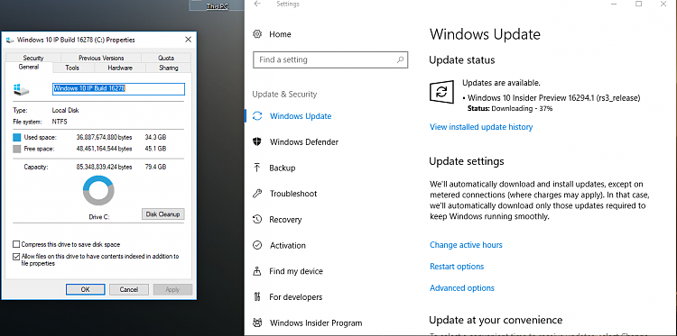Announcing Windows 10 Insider Preview Fast Build 16294 for PC-free-space.png