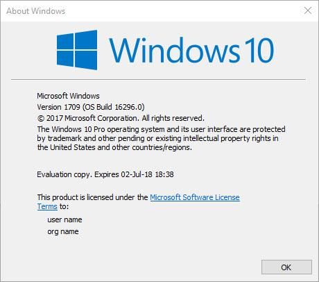 Announcing Windows 10 Insider Preview Slow Build 16296 for PC-winver.jpg