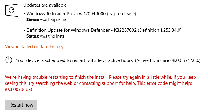 Announcing Windows 10 Insider Preview Skip Ahead Build 17004 for PC-restart-error.png