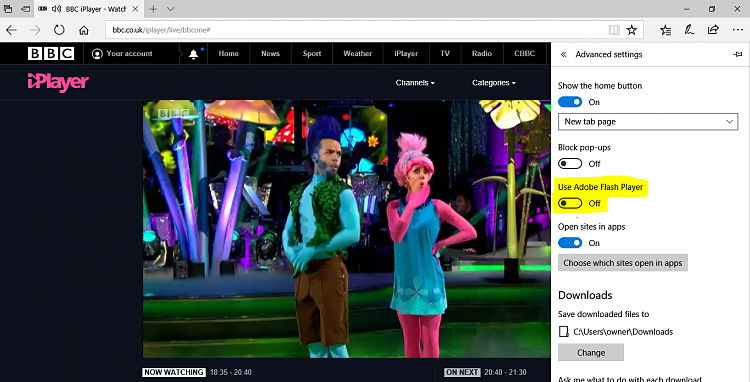 Click image for larger version.  Name:bbc iPlayer - no Flash.PNG Views:6 Size:896.8 KB ID:156979