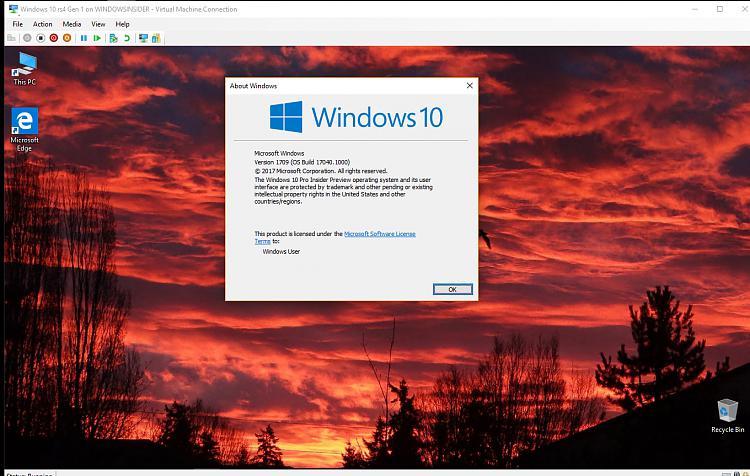 Click image for larger version.  Name:Windows 10 Gen 1 Build 17040 No expiration.jpg Views:9 Size:144.8 KB ID:164694