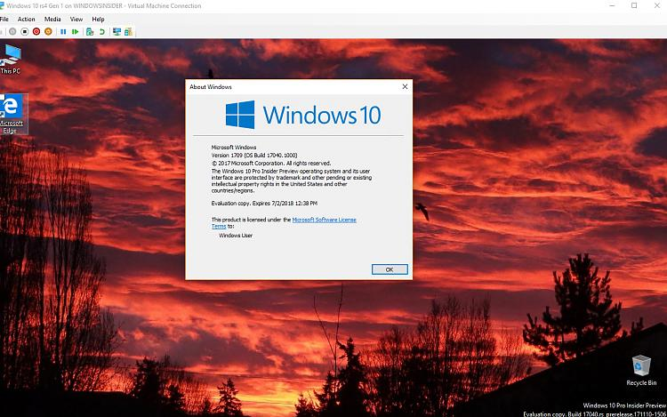 Click image for larger version.  Name:Windows 10 Gen 1 Build 17040 With expiration.jpg Views:3 Size:141.7 KB ID:164695