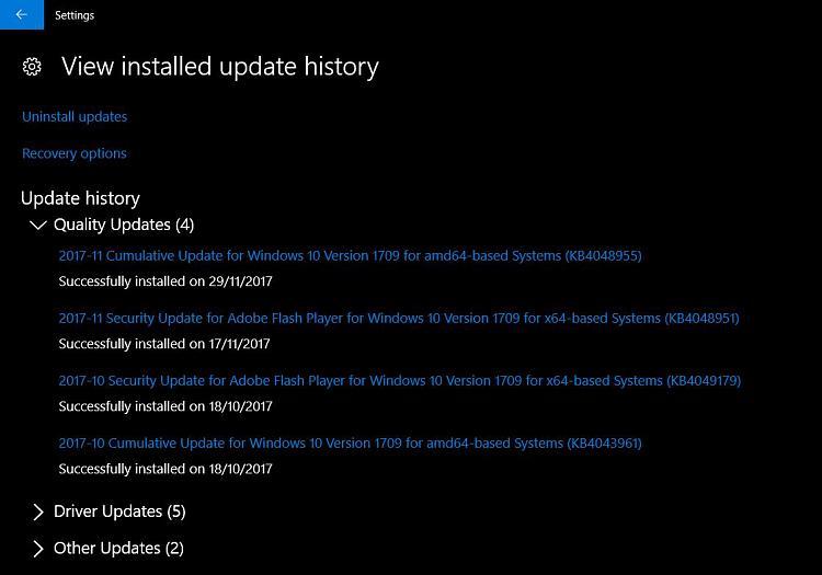 Cumulative Update KB4048955 Windows 10 v1709 Build 16299 64 - Page