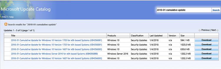 Cumulative Update KB4056892 Windows 10 v1709 Build 16299.192-2018-01-updates.png