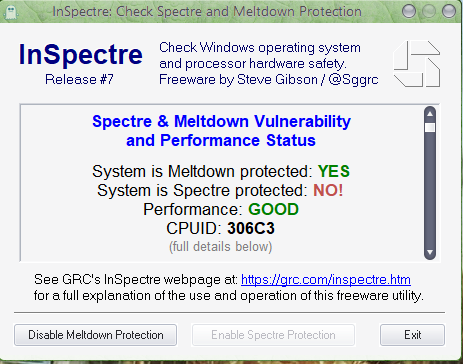 Click image for larger version.  Name:2018-03-24 12_57_31-InSpectre_ Check Spectre and Meltdown Protection.png Views:89 Size:51.5 KB ID:182765