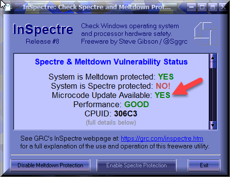 Click image for larger version.  Name:InSpectre's result After Running GRC's Latest Version.png Views:46 Size:52.8 KB ID:184440