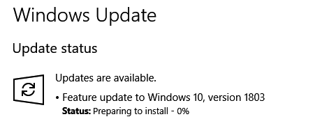 Click image for larger version.  Name:1803 windows update.PNG Views:406 Size:7.7 KB ID:186726