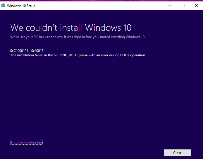Click image for larger version.  Name:Failed to update to build 17661.PNG Views:70 Size:20.1 KB ID:187935