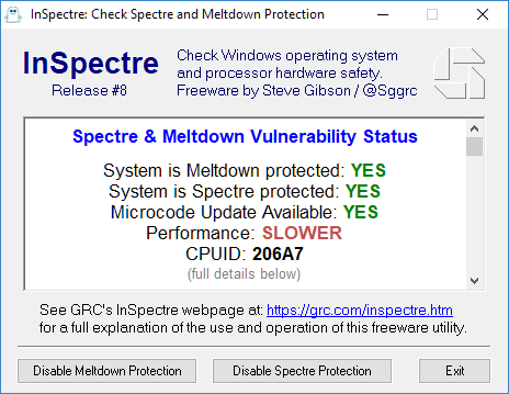 KB4100347 Intel microcode updates for Windows 10 v1803 - January 8-inspectre-206a7.png