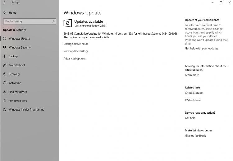 Cumulative Update KB4100403 Windows 10 v1803 Build 17134.81 - May 23-kb.png