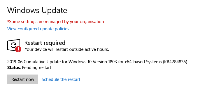 Click image for larger version.  Name:Windows Update - restart required (1803).PNG Views:255 Size:16.0 KB ID:192042