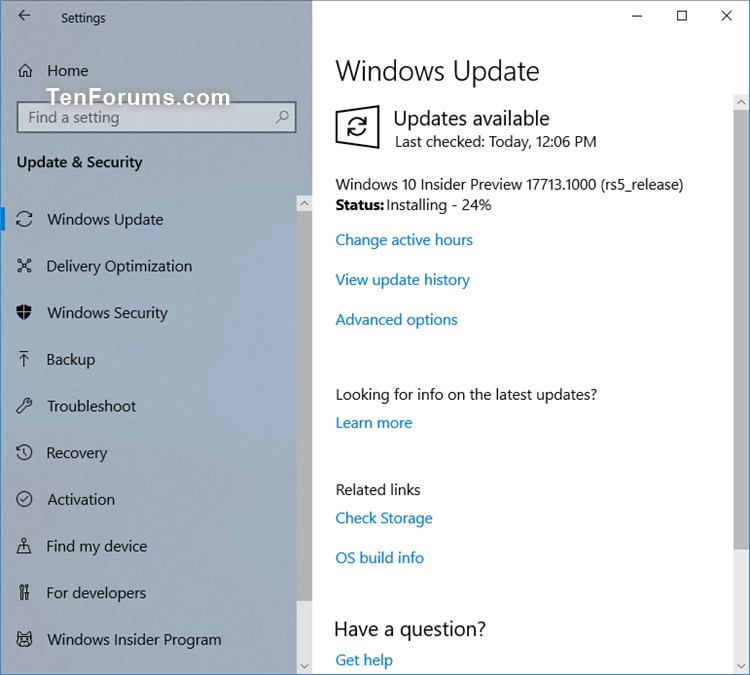 New Windows 10 Insider Preview Slow Build 17713 1002 - July 26