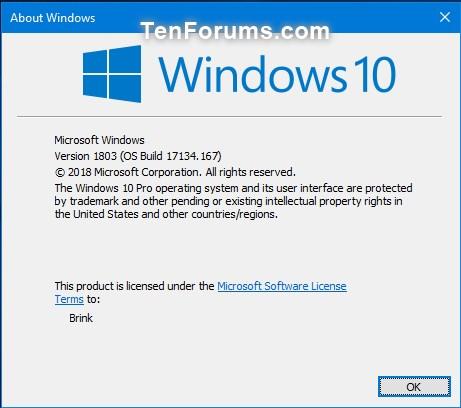 Cumulative Update KB4345421 Windows 10 v1803 Build 17134.167 - July 16-17134.167.jpg