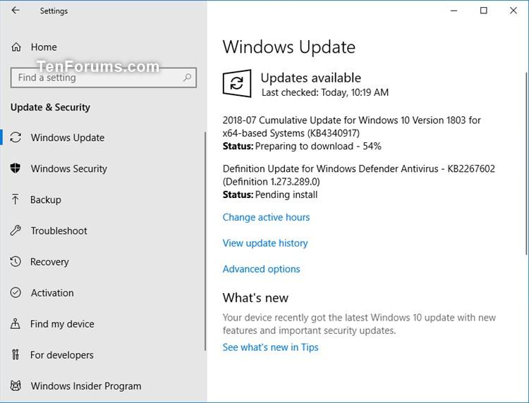 Cumulative Update KB4340917 Windows 10 v1803 Build 17134 191