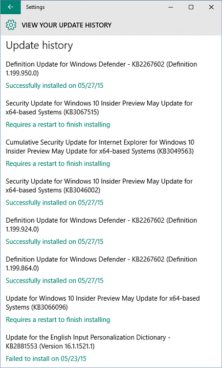 New Security Updates KB3049563 and KB3067515 for Windows 10-wufubar-b.png