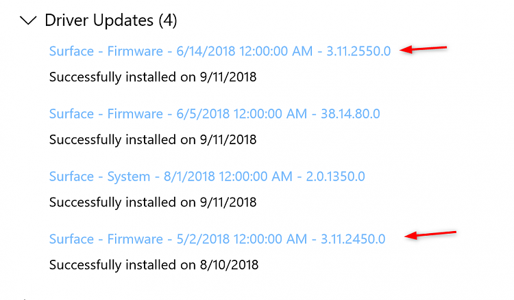 New Firmware Update for Surface Pro 3 - September 10, 2018