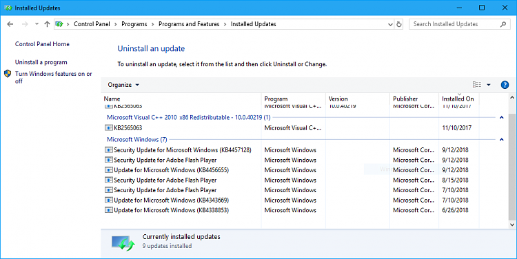 Cumulative Update KB4457128 Windows 10 v1803 Build 17134 285