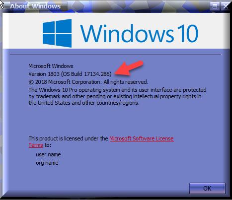 Cumulative Update KB4464218 Windows 10 v1803 Build 17134 286
