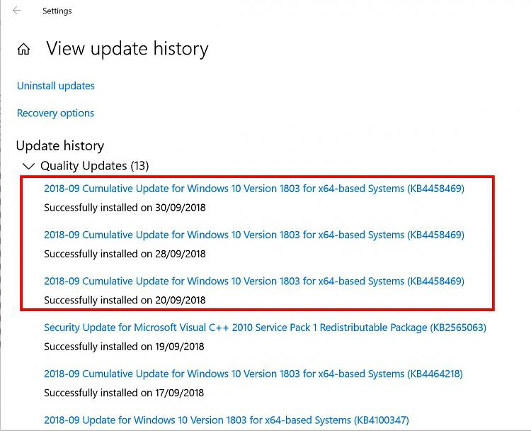 Kb4464218 Windows 10 Update 1803 17 September 2018 - Classycloud co
