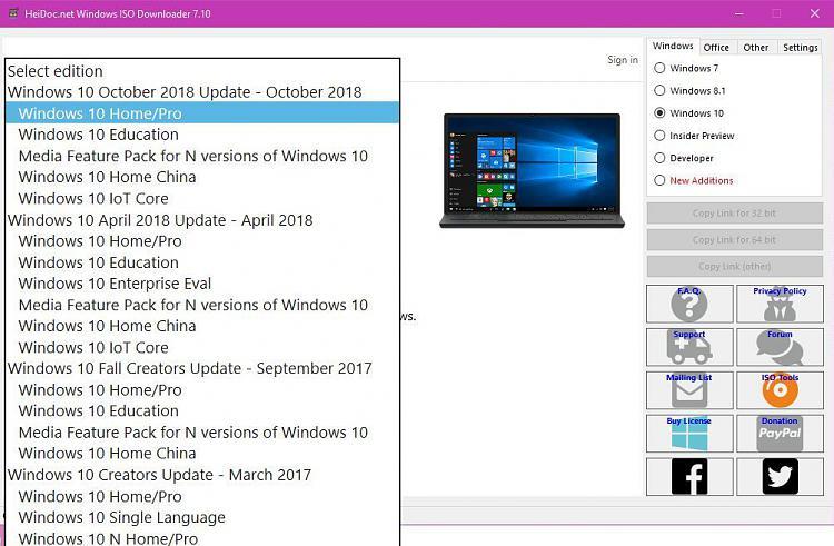 windows 10 1809 iso hash