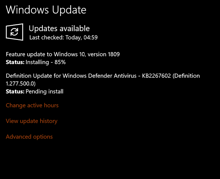 2019-10 cumulative update for windows 10 version 1803