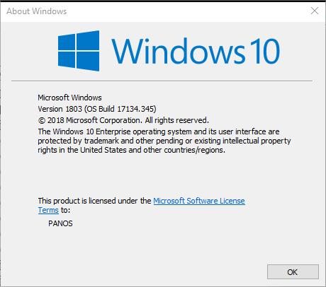 Cumulative Update KB4462919 Windows 10 v1803 Build 17134.345 - Oct. 9-345.png