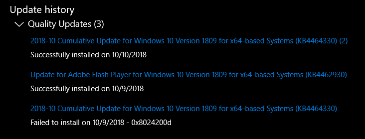 Windows Update ends with error 0x800f0982 / 0x8024200d