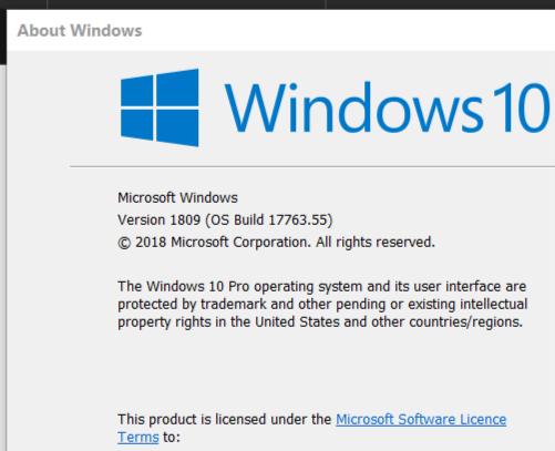 Cumulative Update KB4464330 Windows 10 v1809 Build 17763.55 - Oct. 9-update-2.png