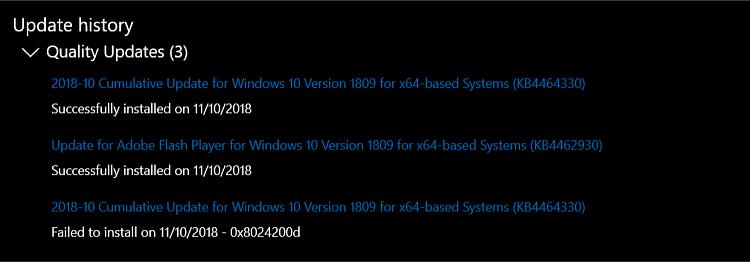 Cumulative Update KB4464330 Windows 10 v1809 Build 17763.55 - Oct. 9-update-3.png