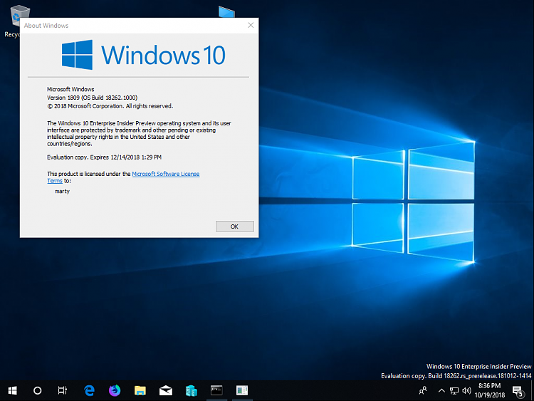New Windows 10 Insider Preview Fast + Skip Build 18262 (19H1