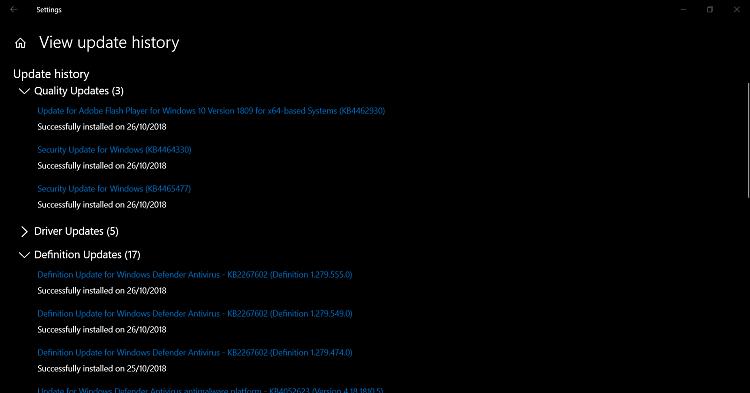 Cumulative Update KB4464330 Windows 10 v1809 Build 17763.55 - Oct. 9-u1.png