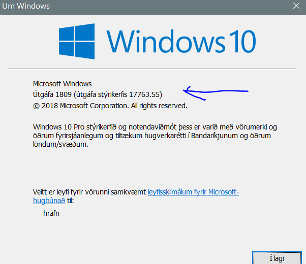 New Windows 10 Insider Preview Fast + Skip Build 18267 (19H1) Oct. 24-winver.png