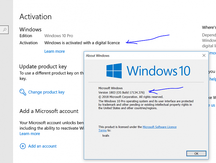 MSFT acknowledges some Win10 Pro licenses being mistakenly deactivated-act.png