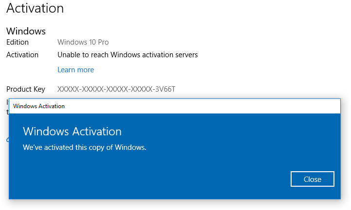 MSFT acknowledges some Win10 Pro licenses being mistakenly deactivated-1803-now-activated.png