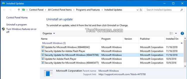 KB4469342 Windows 10 Insider RP v1809 Build 17763.165 - Nov. 16-kb4470788.jpg
