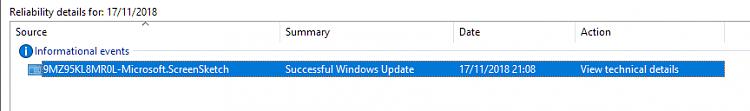 Cumulative Update KB4467708 Windows 10 v1809 Build 17763.134 - Nov. 13-snip-sketch-reliability-history.png